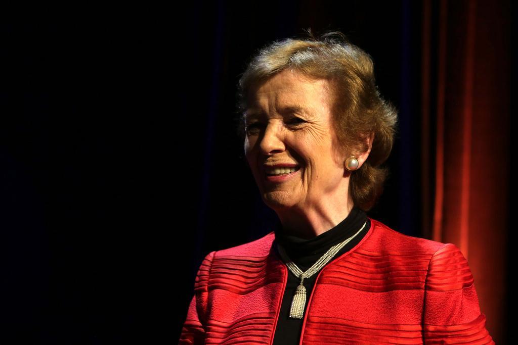 Mary Robinson no Fronteiras São Paulo 2016 (foto: Greg Salibian/Fronteiras do Pensamento)