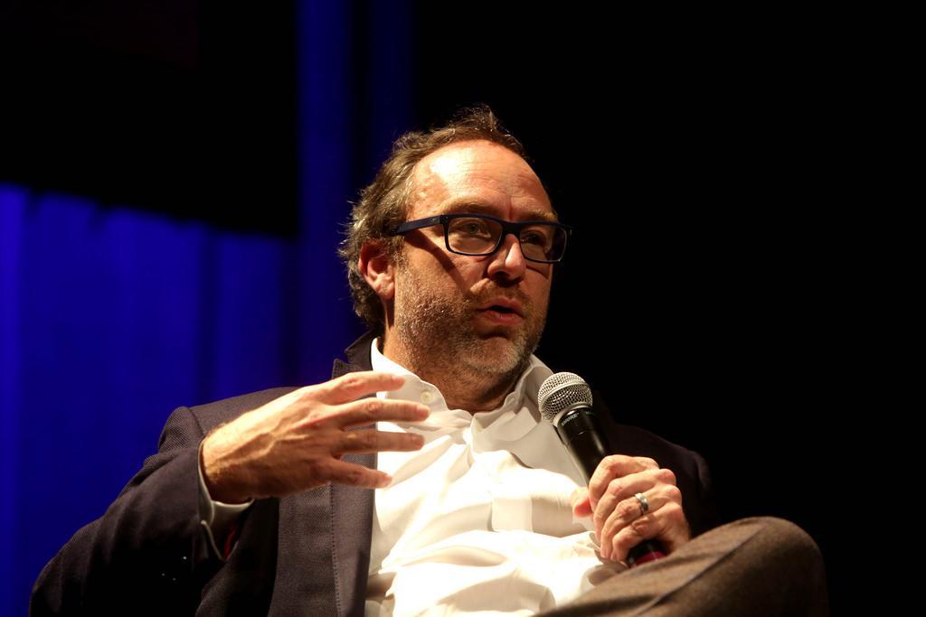 Jimmy Wales no Fronteiras São Paulo (foto: Greg Salibian/Fronteiras do Pensamento)