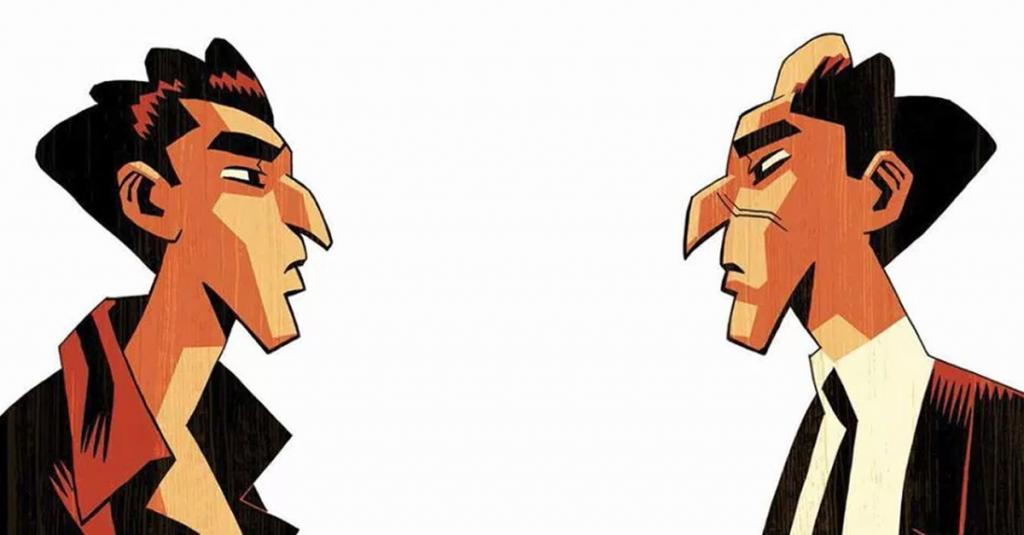 Capa da edição francesa da graphic novel Dois Irmãos, uma adaptação de Fábio Moon e Gabriel Bá ao livro de Hatoum