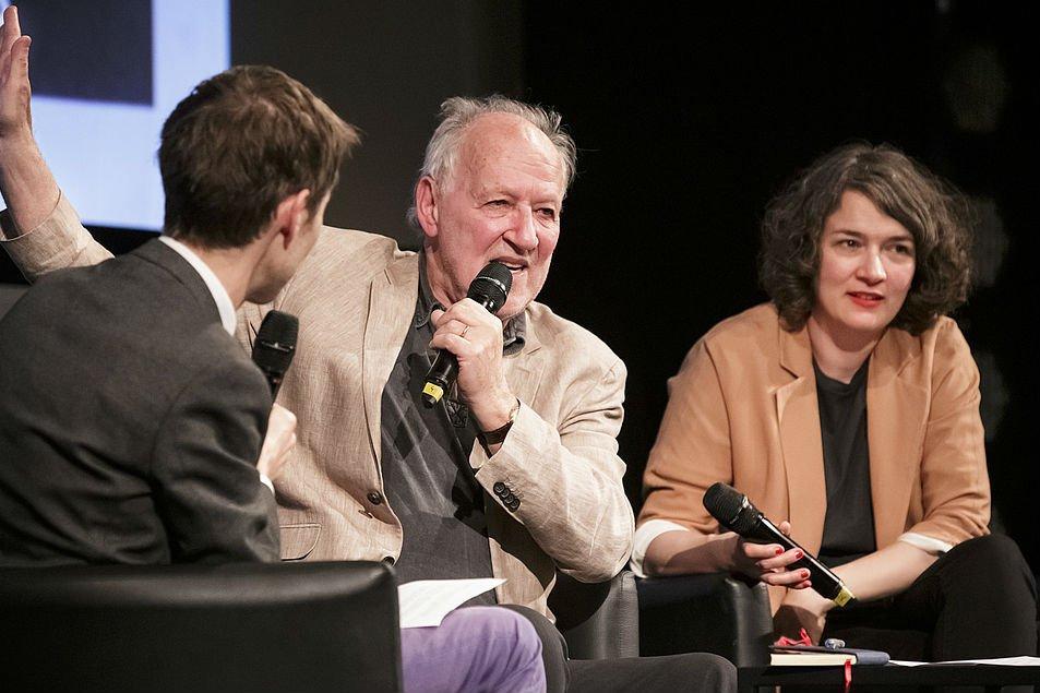 Werner Herzog e Illia Gladshtein no Visions in Nyon