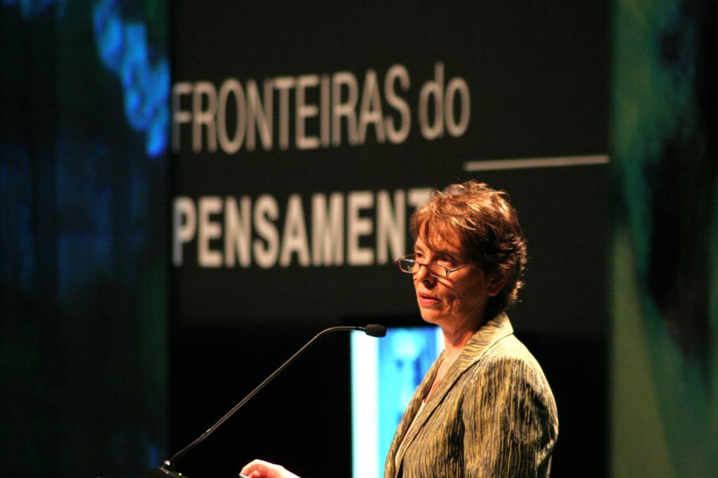 Camille Paglia (foto: Fronteiras do Pensamento)