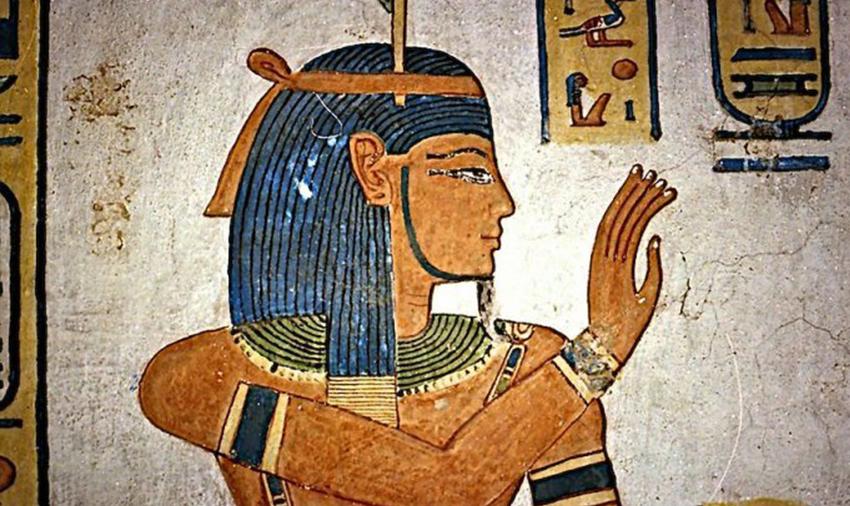 Shou, o deus dos ares na mitologia egípcia.