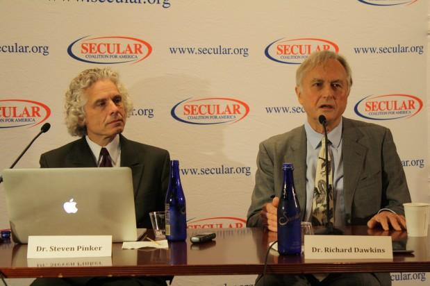 Steven Pinker e Richard Dawkins (foto:  The Richard Dawkins Foundation for Reason and Science)