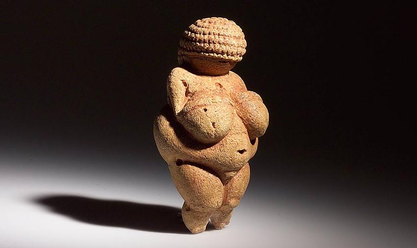 Vênus de Willendorf, estatueta esculpida entre 28 000 e 25 000 a.c.