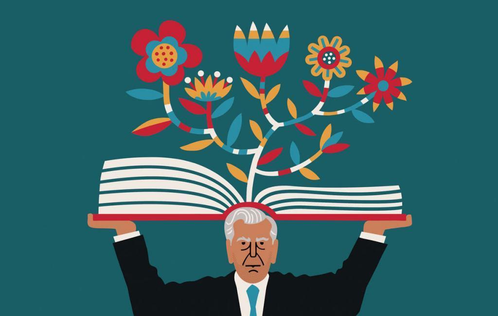 Mario Vargas Llosa (Ilustração: Lo Cole)
