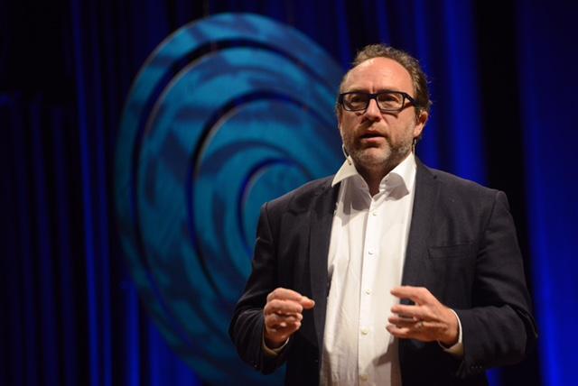 Jimmy Wales no Fronteiras POA (foto: Luiz Munhoz/Fronteiras do Pensamento)