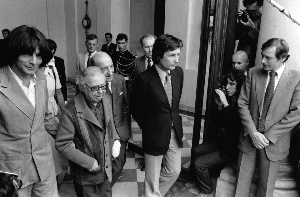 André Glucksmann, Sartre e Raymond Aron (foto: Gilbert Uzan, 1979)