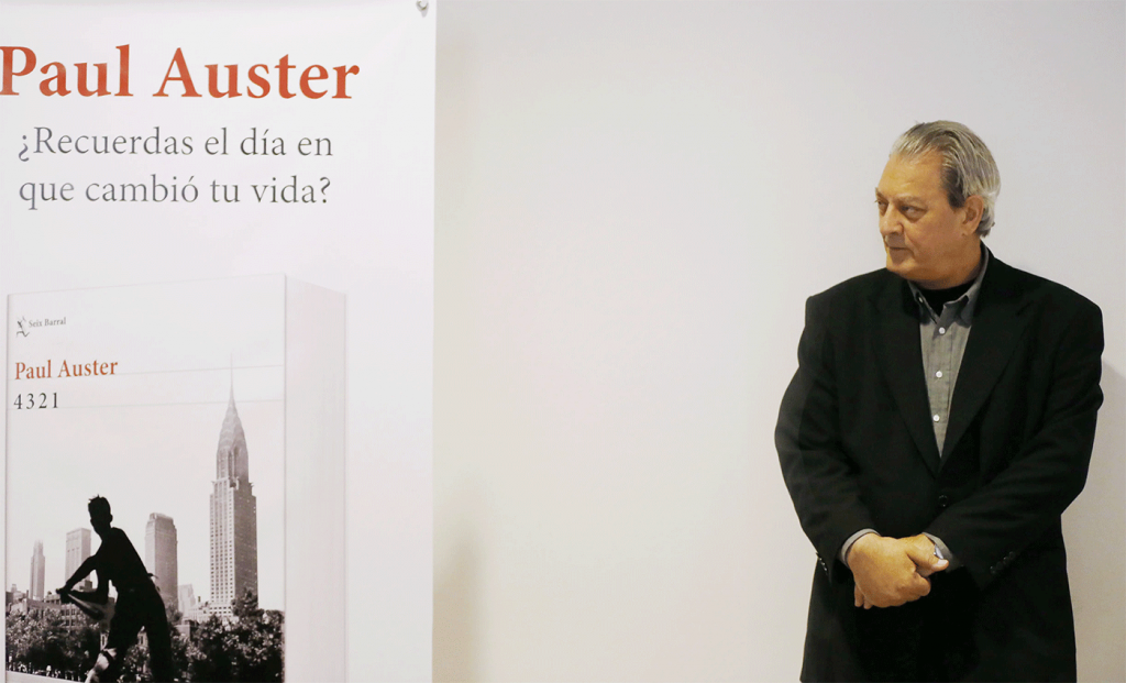 Paul Auster é conferencista do Fronteiras 2019