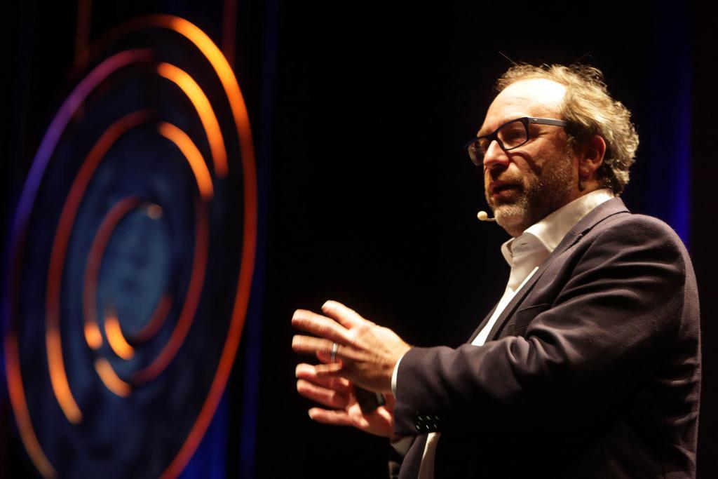Jimmy Wales no Fronteiras 2015 (foto: Greg Salibian/Fronteiras do Pensamento)