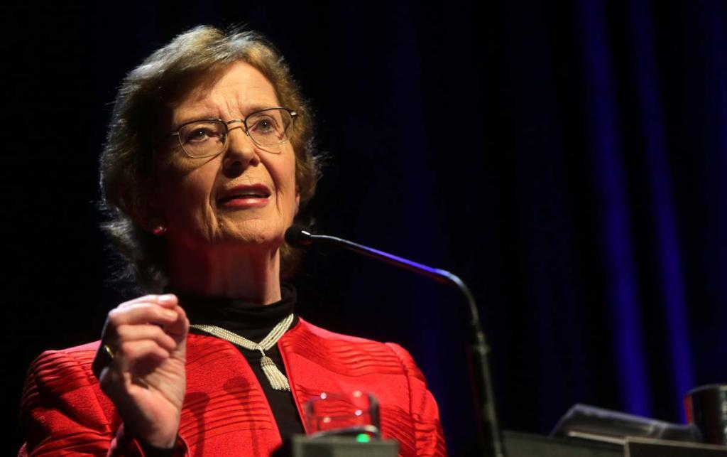 Mary Robinson no Fronteiras São Paulo (foto: Greg Salibian/Fronteiras do Pensamento)