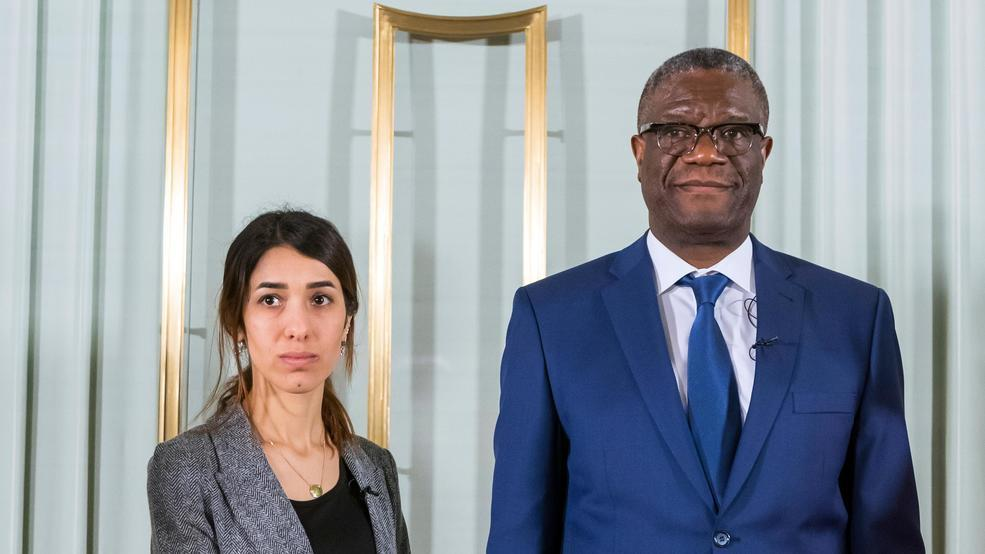 Murad e Mukwege (Heiko Junge/NTB scanpix via AP)