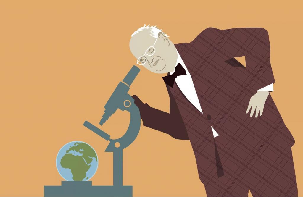 Angus Deaton (ilustração: Johan Jarnestad/Academia Real das Ciências da Suécia)