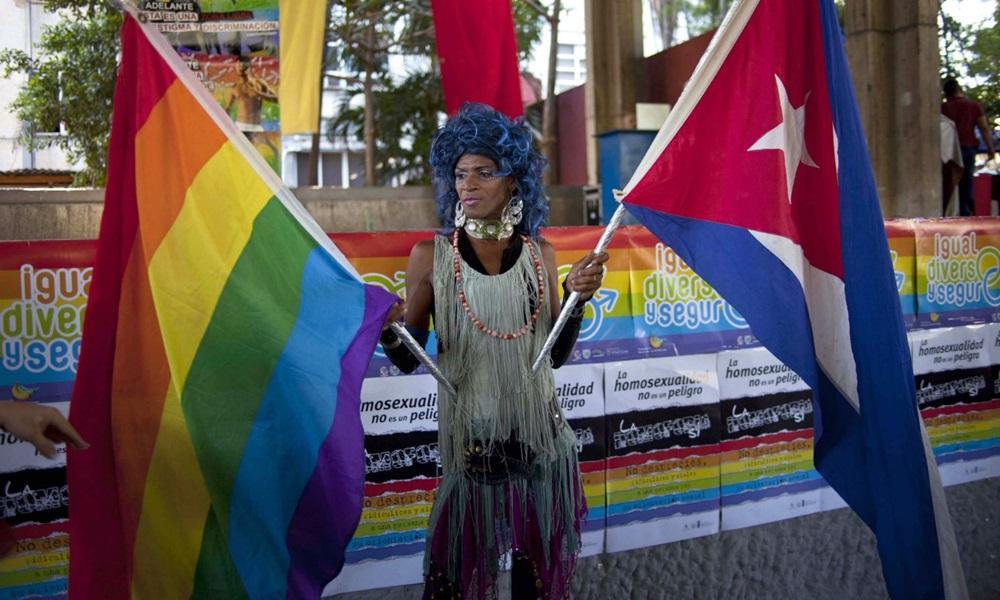 Manifestação no Dia Internacional contra a Homofobia, em Havana, em 2013. Foto: Ramon Espinosa/AP