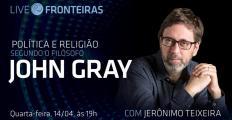Jerônimo Teixeira fala sobre política e religião na obra de John Gray na Live Fronteiras desta quarta-feira (14)