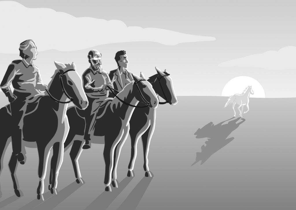 The trail goes on, ilustração em homenagem a Hitchens, por Bengie/2011
