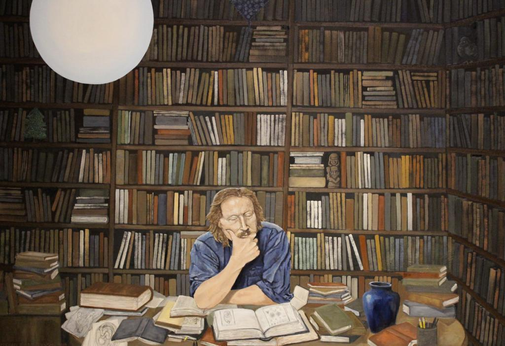 Sloterdijk (pintura a óleo sobre tela por Michael Burris Johnson, 2014)