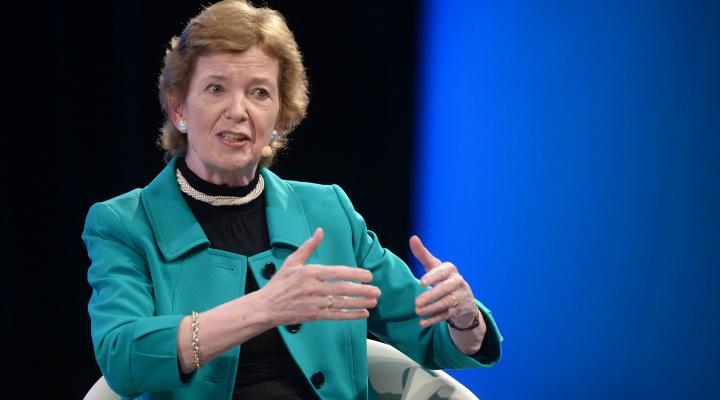 Robinson é  ex-presidente da Irlanda e líder na área da sustentabilidade