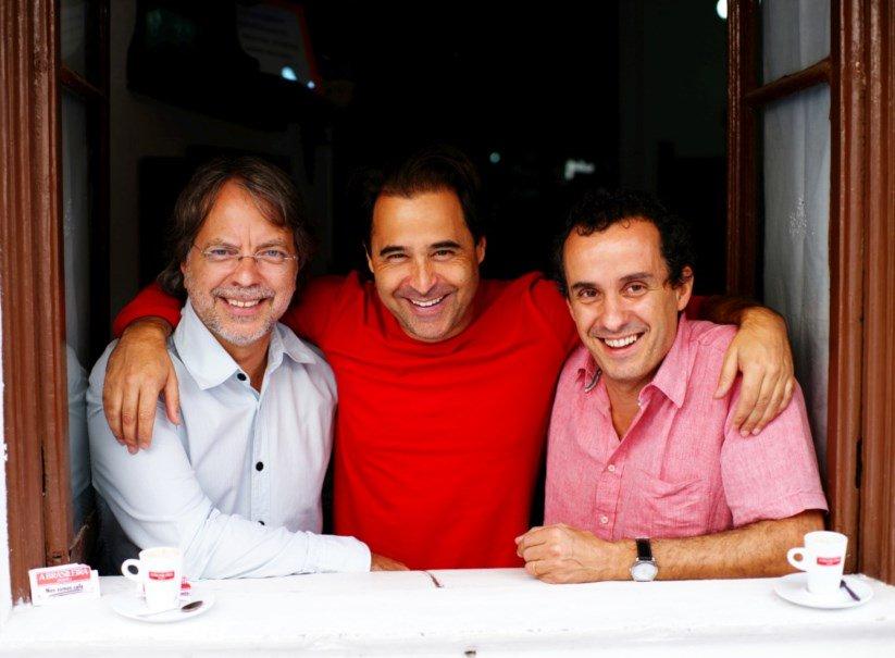 Mia Couto, Agualusa e o músico João Afonso