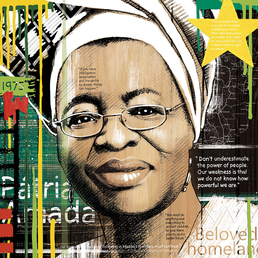 Graça Machel por Eleanor Turvey