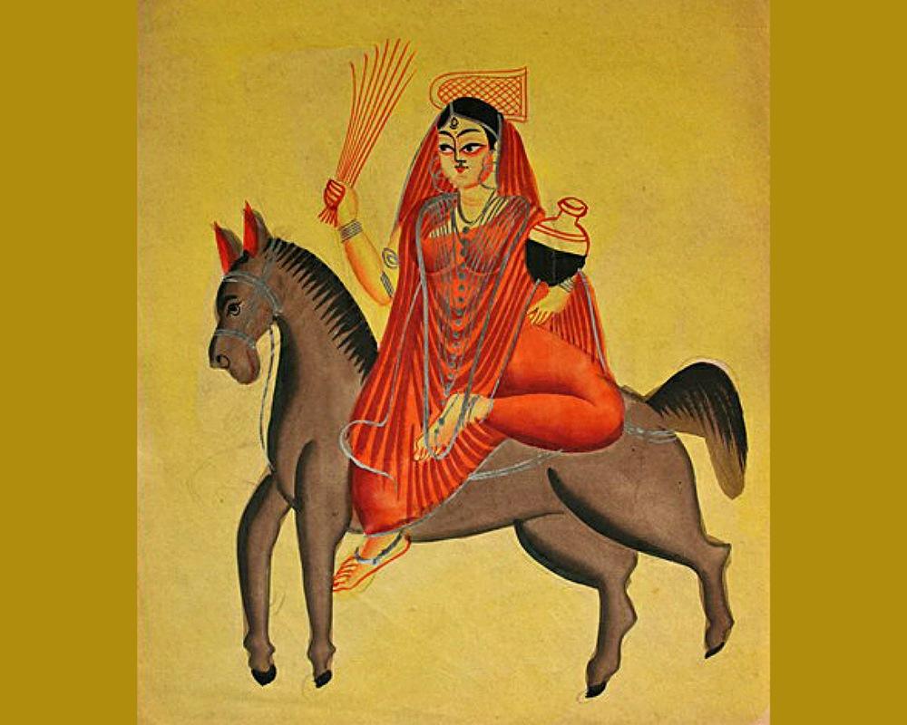 Shitala, conhecida como a Deusa indiana da Varíola